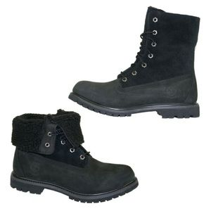 HTF Timberland Fold Down Combat Boots Suede 8149A